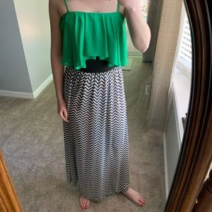 Sugarlips Chevron maxi dress